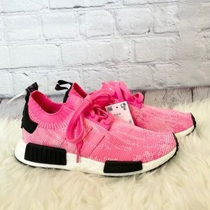 NWT Adidas NMD R1 hot pink knit sneakers